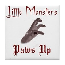 Lady Gaga/Little Monsters shirt front Tile Coaster