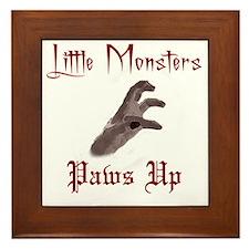 Lady Gaga/Little Monsters shirt front4 Framed Tile