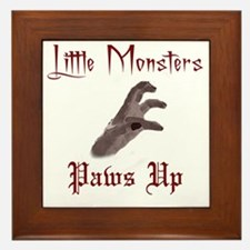 Lady Gaga/Little Monsters shirt front4 Framed Tile