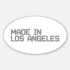MADE IN LA Oval Decal