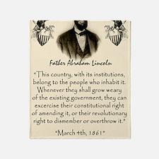 Liberty And Union Throw Blanket