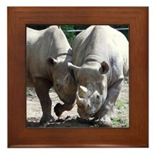 2 rhino Framed Tile