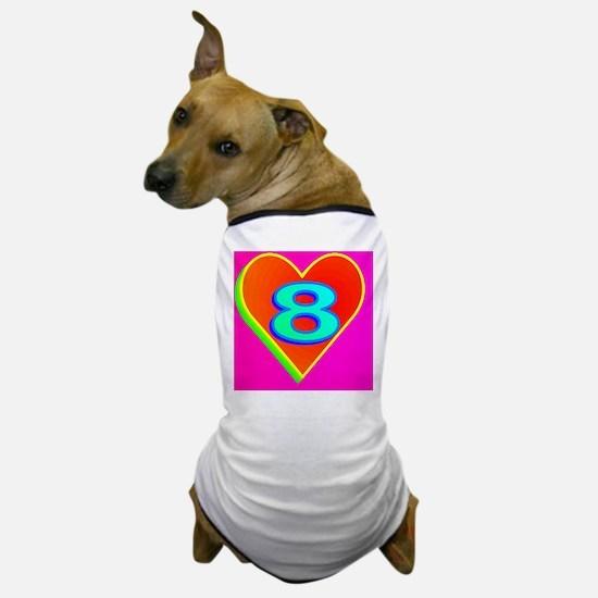 2-LUV8(black cap) Dog T-Shirt