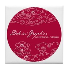 Dakini Graphics round clouds Tile Coaster