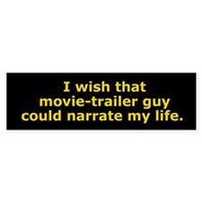 Movie-Trailer Guy Bumper Bumper Sticker