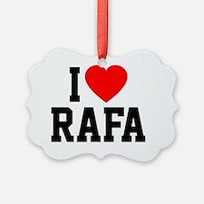 Heart Rafa Button Ornament