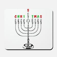 Christmas Menorah Mousepad