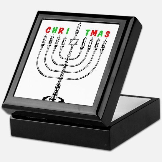 Christmas Menorah Keepsake Box
