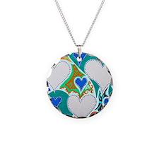 Raining Hearts Jade 9x12 Necklace