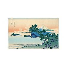 Hokusai Shichiri beach in Sagami Pr 3'x5' Area Rug