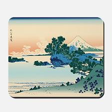 Hokusai Shichiri beach in Sagami Provinc Mousepad