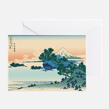 Hokusai Shichiri beach in Sagami Pro Greeting Card