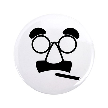 """Marx Moustache 3.5"""" Button"""