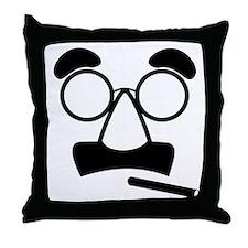 Marx Moustache Throw Pillow