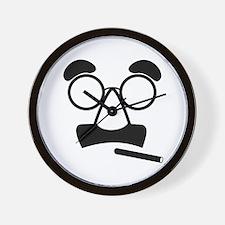 Marx Moustache Wall Clock