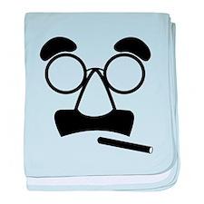 Marx Moustache baby blanket