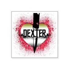 "5-lovedexter Square Sticker 3"" x 3"""