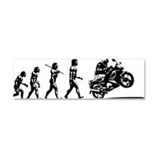 wheelie evolution Car Magnet 10 x 3