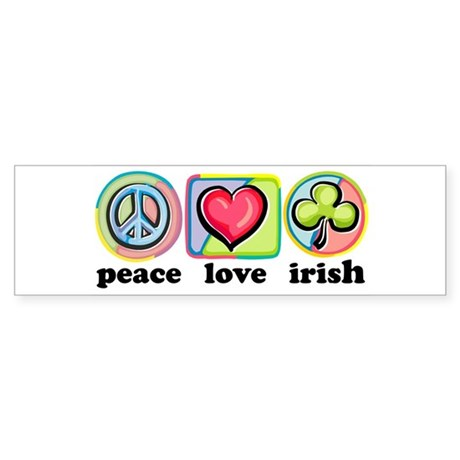 Peace Love Irish Bumper Sticker
