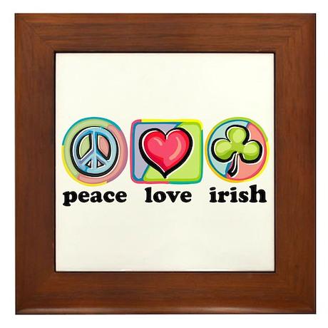 Peace Love Irish Framed Tile