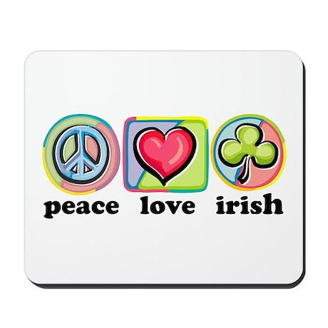 Peace Love Irish Mousepad