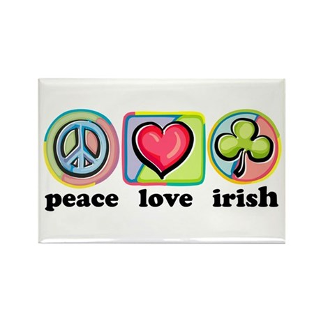 Peace Love Irish Rectangle Magnet