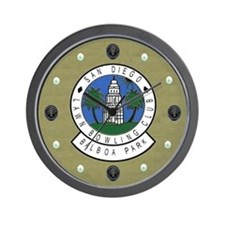 San Diego Lawn Bowling Club Wall Clock