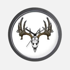 Whitetail deer skull Wall Clock