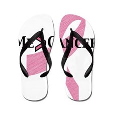 me greater than cancer Flip Flops