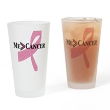 me greater than cancer Drinking Glass