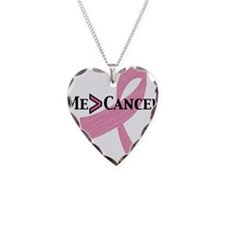 me greater than cancer Necklace Heart Charm