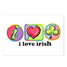 I Love Irish Heart Postcards (Package of 8)