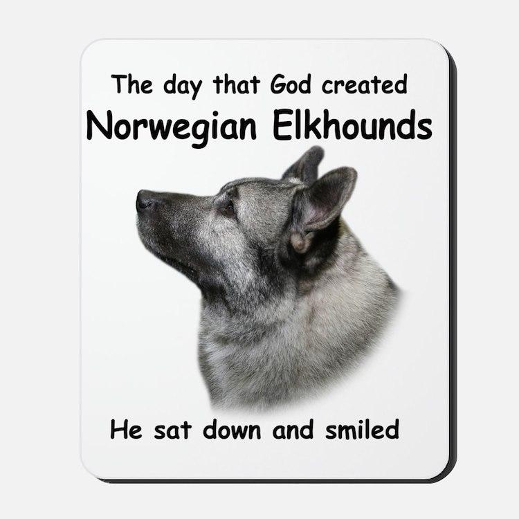 God-Elkhound Tile Mousepad