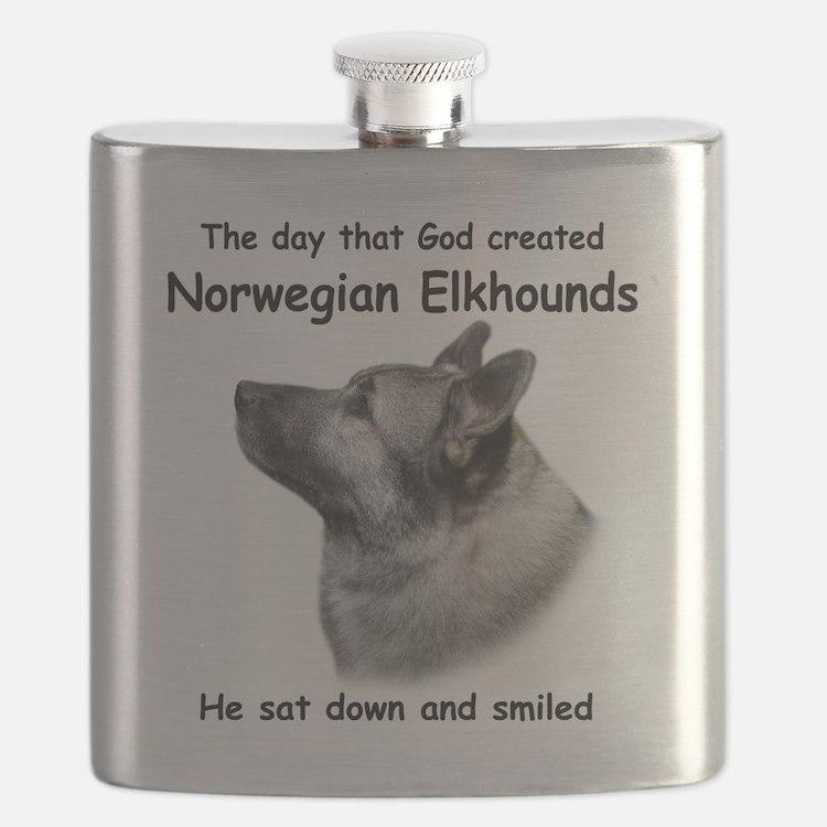 God-Elkhound Tile Flask