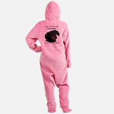 God-Dachshund Dark Shirt Footed Pajamas