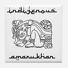 indigenous-amarukhan_vectorized Tile Coaster