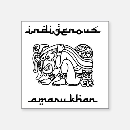 """indigenous-amarukhan_vector Square Sticker 3"""" x 3"""""""