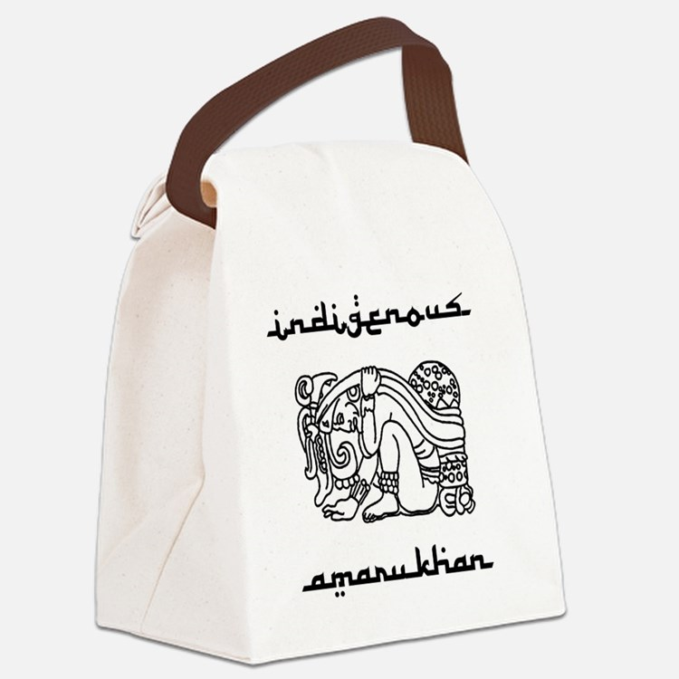 indigenous-amarukhan_vectorized Canvas Lunch Bag
