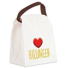 2-HALLOWEEN WHITE Canvas Lunch Bag