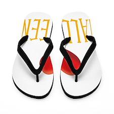 2-HALLOWEEN WHITE Flip Flops