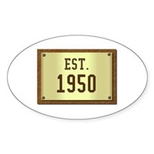 baby boomers novelty established 1950 Decal