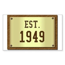 baby boomers novelty established 1949 Decal