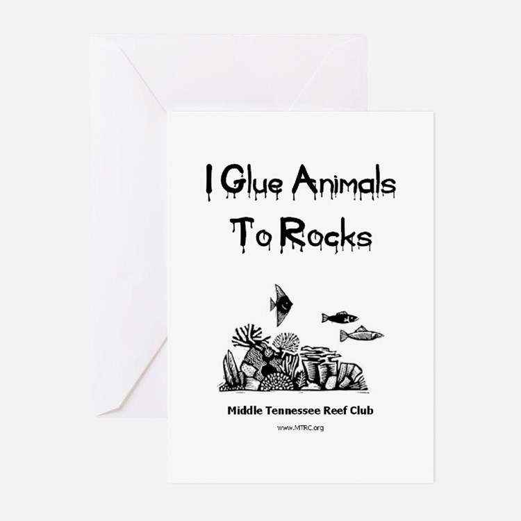 I Glue Animals To Rocks Greeting Cards (Package of