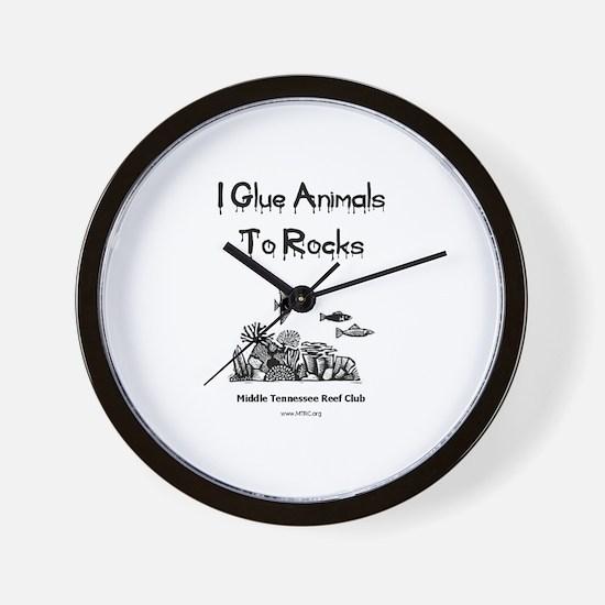 I Glue Animals To Rocks Wall Clock