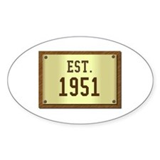baby boomers novelty established 1951 Decal