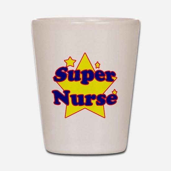 super nurse yellow copy Shot Glass