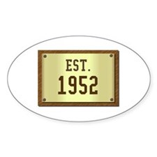 baby boomers novelty established 1952 Decal