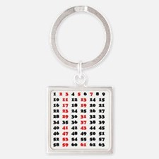 2-Prime Numbers 01 copy Square Keychain