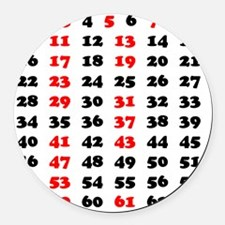 2-Prime Numbers 01 copy Round Car Magnet