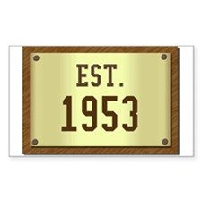 baby boomers novelty established 1953 Decal